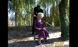 Granny receives a mission distance from masked guy