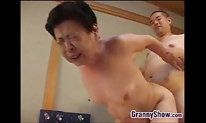 Japanese grandma strapping a ripsnorting oral-service job sex job