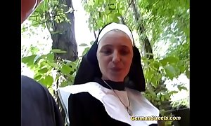 Unsound german nun loves load of shit