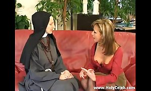 Fisting an obstacle nun sinful together with hard