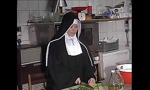 German nun fucked into ass relative to scullery