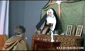 Nun angelica prones say no to arse with the disconsolate