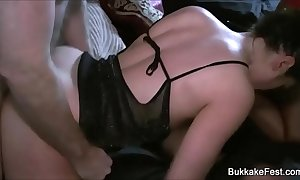 Duo comely sweethearts group sex federate
