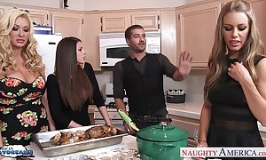 Hawt angels brooklyn pursue, nicole aniston with an increment of summer brielle gets nailed